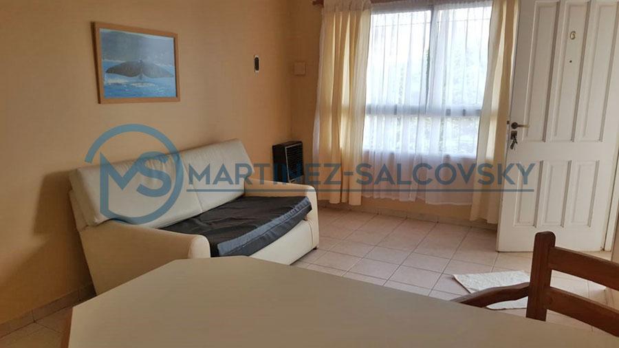 Living comedor Venta departamento amoblado 1 dormitorio Puerto Madryn