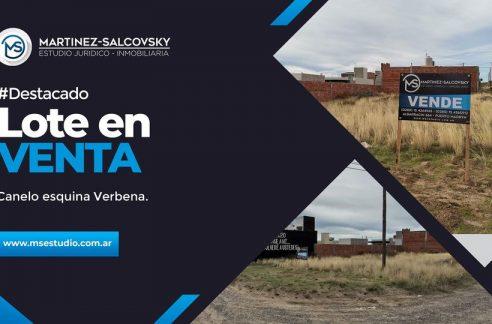 LOTE EN VENTA ESQUINA ZONA COMERCIAL SOLANA DE LA PATAGONIA MADRYN